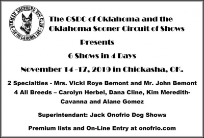 GSDC of Oklahoma Shows